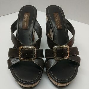 Brighton Arbor Cork Mules Sandals Size 7.5